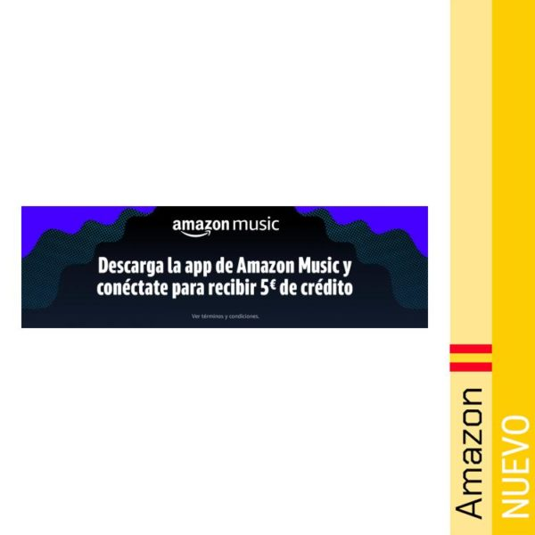 Descarga la APP de Amazon Music y recibe 5€ de regalo!