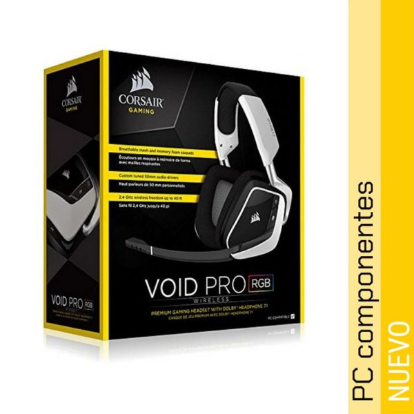 Corsair Void Pro Gaming 7.1 RGB Wireless Blancos