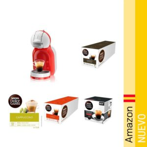 Pack Delonghi Dolce Gusto EDG305.WR - Cafetera de capsulas y 15 packs