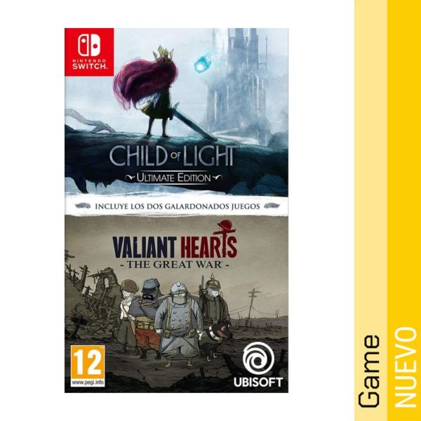 Pack Child Of Light Ultimate Edition + Valiant Hearts - Nintendo Switch