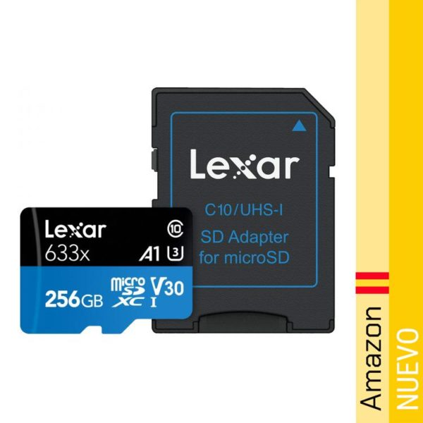 Tarjeta Lexar High-Performance 256GB 633x microSDXC UHS-I