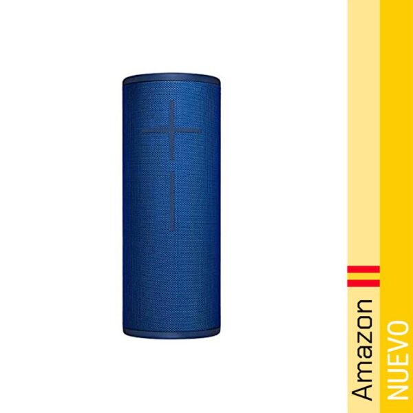 Ultimate Ears Megaboom 3 Altavoz Portatil Inalambrico Bluetooth, Graves Profundos, Impermeable, Flotante, Conexion Multiple, Bateria de 20 h, color Azul